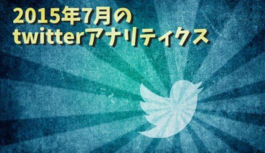 インプレッションは約40万。2015年7月のtwitterアナリティクス公開